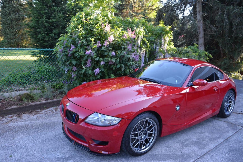 2008 BMW Z4 M Coupe in Imola Red 2 over Black Extended Nappa
