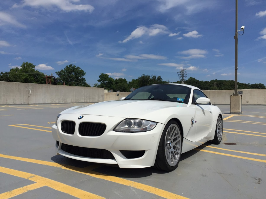 2007 BMW Z4 M Coupe in Alpine White III over Imola Red Nappa