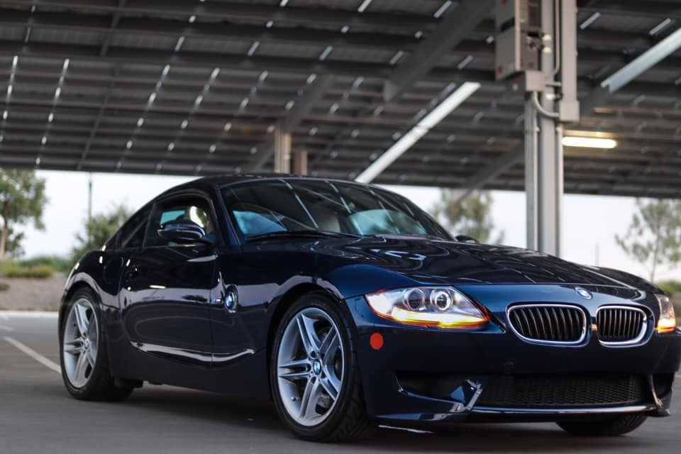 2007 BMW Z4 M Coupe in Monaco Blue Metallic over Light Sepang Bronze Extended Nappa