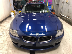 2007 BMW Z4 M Coupe in Interlagos Blue Metallic over Black Nappa