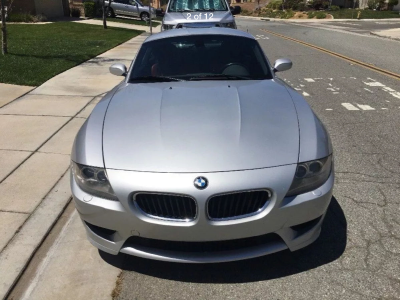 2007 BMW Z4 M Coupe in Titanium Silver Metallic over Imola Red Nappa