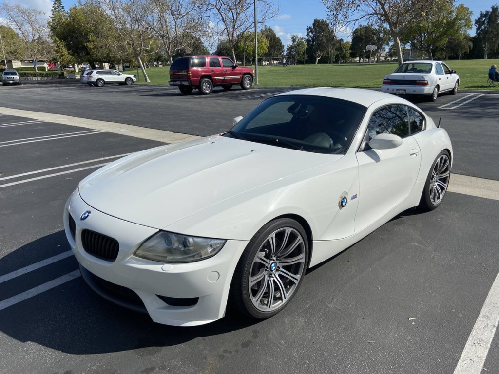 2008 BMW Z4 M Coupe in Alpine White III over Imola Red Nappa