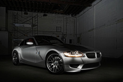 2008 BMW Z4 M Coupe in Titanium Silver Metallic over Imola Red Nappa